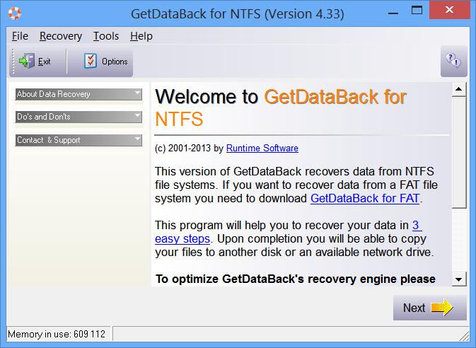 Getdataback 4.33 - фото 9