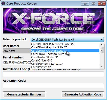 coreldraw x7 серийный номер и код активации